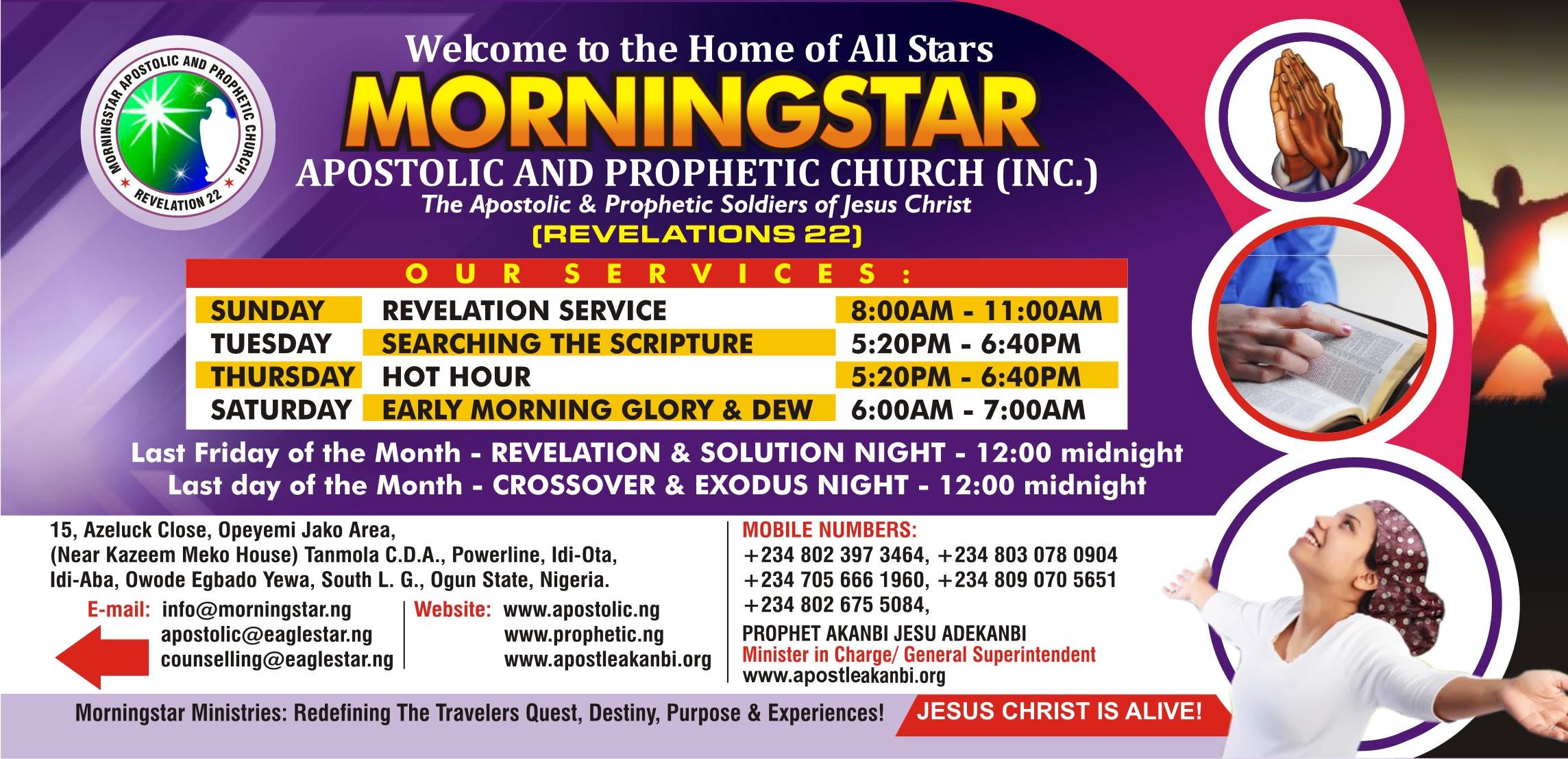 The Apostolic & Prophetic Destiny Solution Ministries, The Apostle